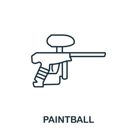 Paintball icon from hobbies collection. Simple line element paintball symbol for templates, web design and infographics.