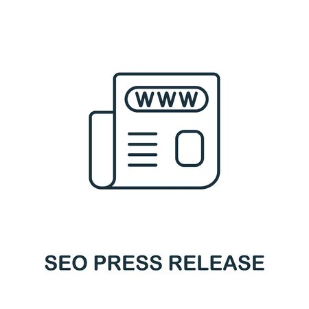 Seo Press Release icon from seo collection. Simple line Seo Press Release icon for templates, web design and infographics.