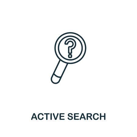 Active Search icon from seo collection. Simple line Active Search icon for templates, web design and infographics.