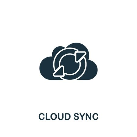 Cloud Sync icon from seo collection. Simple line Cloud Sync icon for templates, web design and infographics. 向量圖像