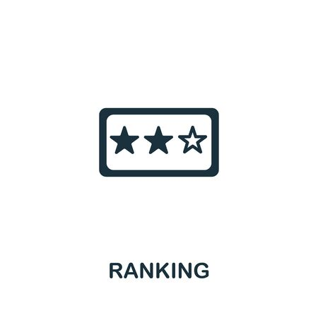 Ranking icon from seo collection. Simple line Ranking icon for templates, web design and infographics.