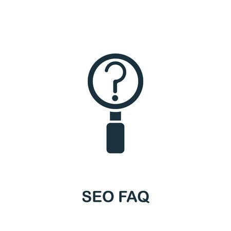 Seo Faq icon from seo collection. Simple line Seo Faq icon for templates, web design and infographics.