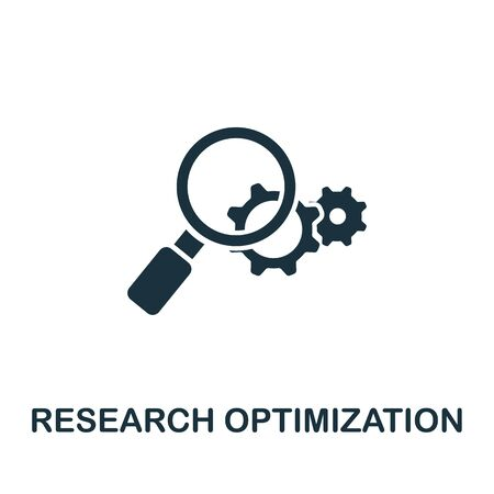 Research Optimization icon from seo collection. Simple line Research Optimization icon for templates, web design and infographics.