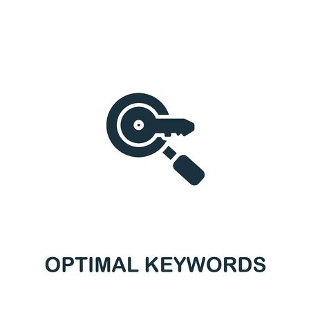 Optimal Keywords icon from seo collection. Simple line Optimal Keywords icon for templates, web design and infographics.