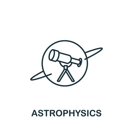 Astrophysics icon from science collection. Simple line element astrophysics symbol for templates, web design and infographics.