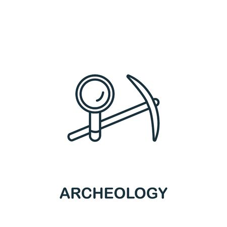 Archeology icon from science collection. Simple line element archeology symbol for templates, web design and infographics.