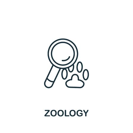 Zoology icon from science collection. Simple line element zoology symbol for templates, web design and infographics.