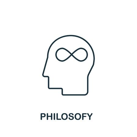 Philosofy icon from science collection. Simple line element philosofy symbol for templates, web design and infographics. Banque d'images - 143377086