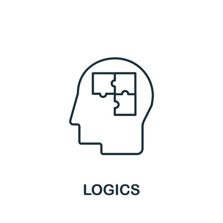 Logics icon from science collection. Simple line element logics symbol for templates, web design and infographics.