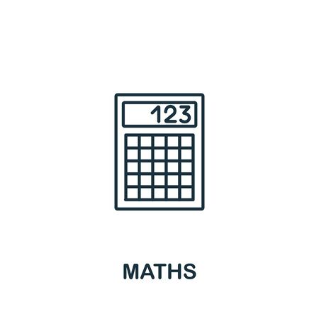 Maths icon from science collection. Simple line element maths symbol for templates, web design and infographics. Illustration