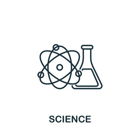 Science icon. Simple line element science symbol for templates, web design and infographics.