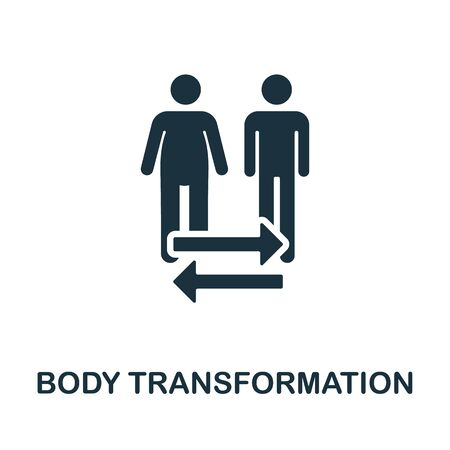 Body Transformation icon. Simple illustration from healthy lifestyle collection. Creative Body Transformation icon for web design, templates, infographics and more.