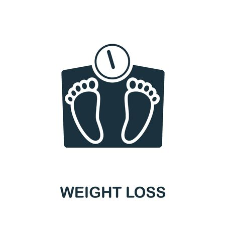 Weight Loss icon. Simple illustration from healthy lifestyle collection. Creative Weight Loss icon for web design, templates, infographics and more. 免版税图像