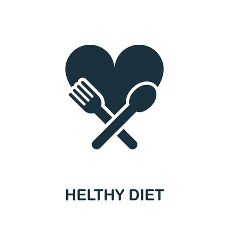 Healthy Diet icon. Simple illustration from healthy lifestyle collection. Creative Healthy Diet icon for web design, templates, infographics and more.