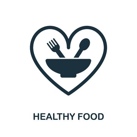 Healthy Food icon. Simple illustration from healthy lifestyle collection. Creative Healthy Food icon for web design, templates, infographics and more.