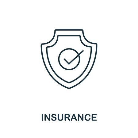 Insurance icon from insurance collection. Simple line Insurance icon for templates, web design and infographics.