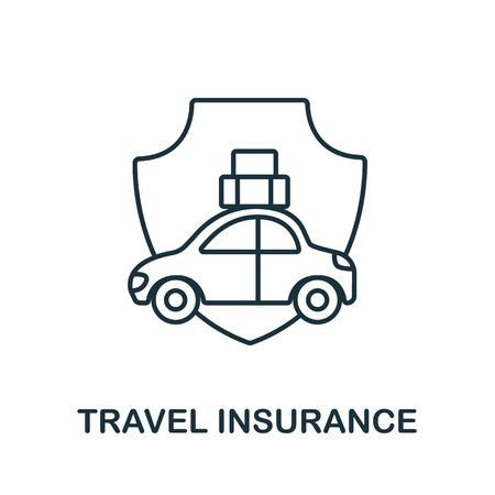 Travel Insurance icon from insurance collection. Simple line Travel Insurance icon for templates, web design and infographics.