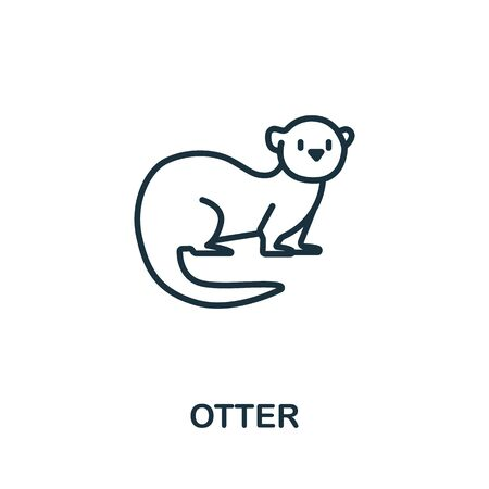 Otter icon from wild animals collection. Simple line Otter icon for templates, web design and infographics.