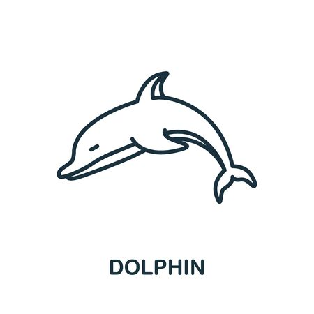 Dolphin icon from wild animals collection. Simple line Dolphin icon for templates, web design and infographics. Illustration