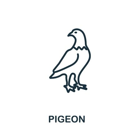 Pigeon icon from wild animals collection. Simple line Pigeon icon for templates, web design and infographics.