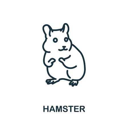 Hamster icon from wild animals collection. Simple line Hamster icon for templates, web design and infographics.