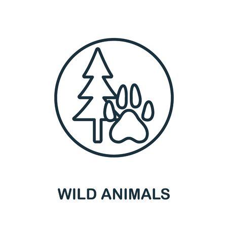 Wild Animals icon. Simple line element wild animals symbol for templates, web design and infographics.