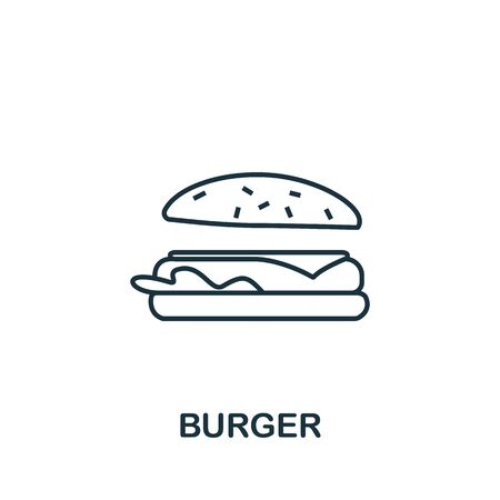 Burger icon from fastfood collection. Simple line element Burger symbol for templates, web design and infographics. Illustration