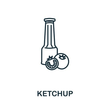 Ketchup icon from fastfood collection. Simple line element Ketchup symbol for templates, web design and infographics. Illustration