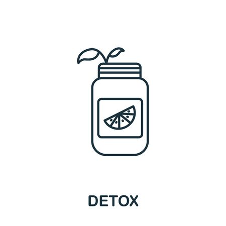 Detox icon from makeup and beauty collection. Simple line element detox symbol for templates, web design and infographics.