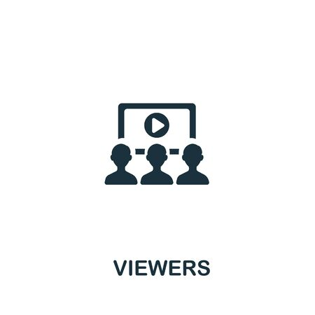 Viewers icon from streaming collection. Simple line Viewers icon for templates, web design and infographics.
