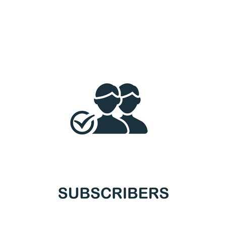 Subscribers icon from streaming collection. Simple line Subscribers icon for templates, web design and infographics. Vector Illustration