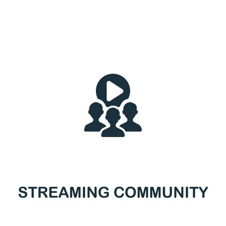 Streaming Community icon from streaming collection. Simple line Streaming Community icon for templates, web design and infographics. Ilustração