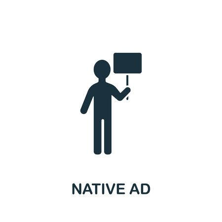 Native Adicon from streaming collection. Simple line Native Ad icon for templates, web design and infographics.