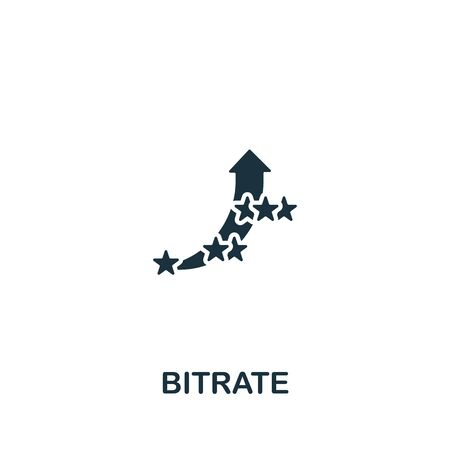 Bitrate icon from streaming collection. Simple line Bitrate icon for templates, web design and infographics.