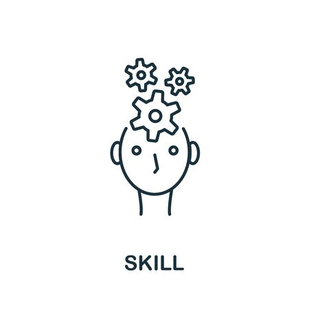 Skill icon. Line style symbol from productivity icon collection. Skill creative element for logo, infographic, ux and ui.