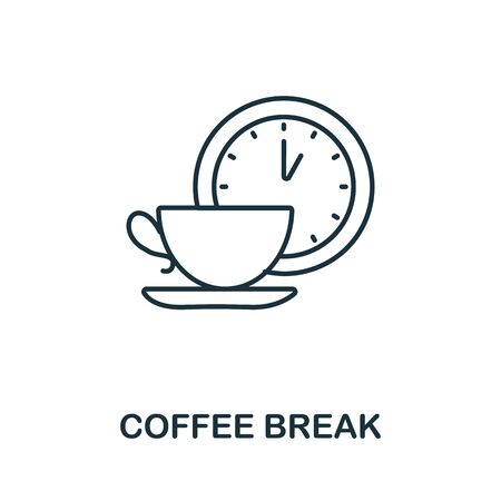 Coffee Break icon. Line style symbol from productivity icon collection. Coffee Break creative element for logo, infographic, ux and ui. Logo
