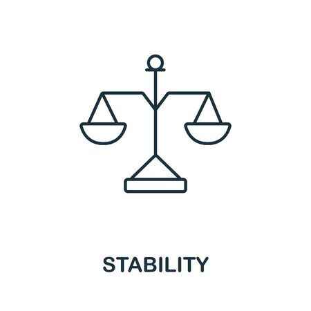 Stability icon. Line style symbol from productivity icon collection. Stability creative element for logo, infographic, ux and ui. Logo