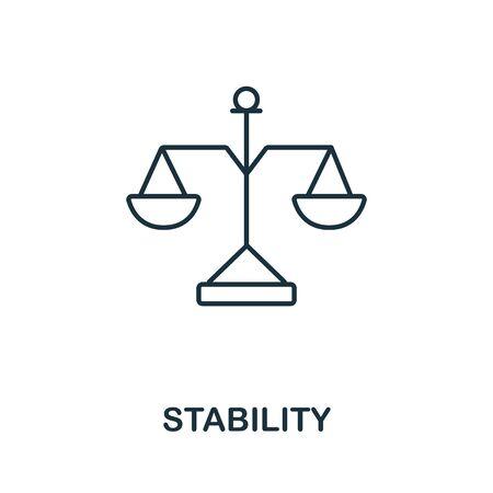 Icône de stabilité. Symbole de style de ligne de la collection d'icônes de productivité. Élément créatif de stabilité pour logo, infographie, ux et ui. Logo