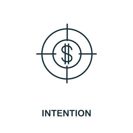 Intention icon. Line style symbol from productivity icon collection. Intention creative element for logo, infographic, ux and ui.