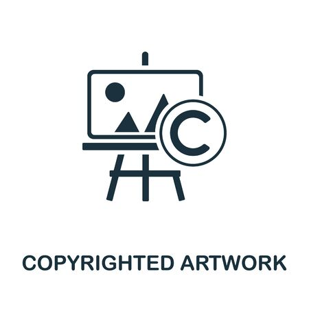 Copyrighted Artwork icon. Simple illustration from digital law collection. Creative Copyrighted Artwork icon for web design, templates, infographics and more.