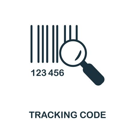 Tracking Code icon. Simple illustration from e-commerce collection. Creative Tracking Code icon for web design, templates, infographics and more.