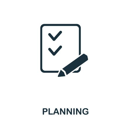 Planning icon from personal productivity collection. Simple line Planning icon for templates, web design and infographics.