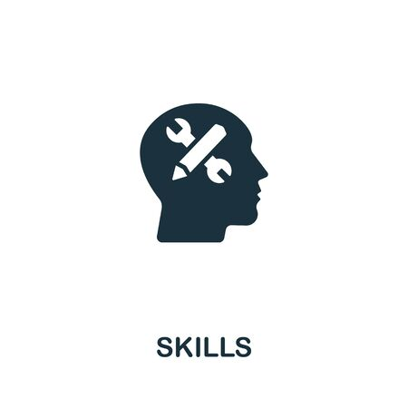 Skills icon from personal productivity collection. Simple line Skills icon for templates, web design and infographics. Иллюстрация
