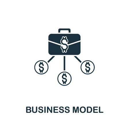 Business Model icon from digitalization collection. Simple line Business Model icon for templates, web design and infographics.
