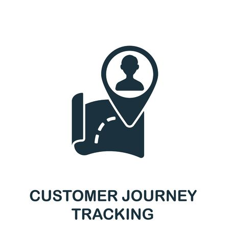 Customer Journey Tracking icon from digitalization collection. Simple line Customer Journey Tracking icon for templates, web design and infographics.