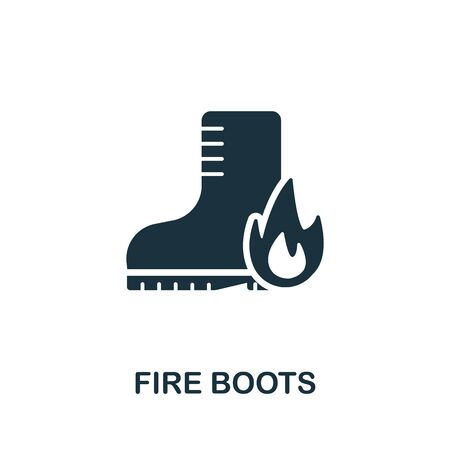Fire Boots icon. Simple illustration from personal protection collection. Creative Fire Boots icon for web design, templates, infographics and more. Illustration