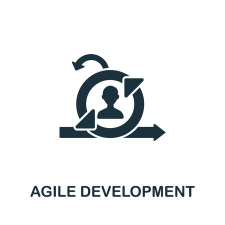 Agile Development icon from digitalization collection. Simple line Agile Development icon for templates, web design and infographics.