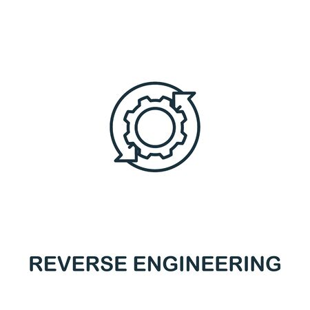 Reverse Engineering icon from artificial intelligence collection. Simple line Reverse Engineering icon for templates, web design and infographics.