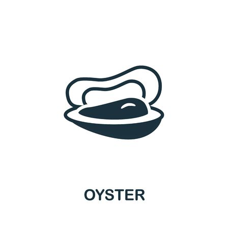 Oyster icon. Simple illustration from seafood collection. Creative Oyster icon for web design, templates, infographics and more. 向量圖像