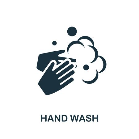 Hand Wash icon. Simple illustration from laundry collection. Creative Hand Wash icon for web design, templates, infographics and more. Illustration